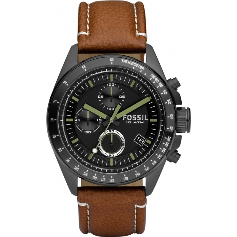 Ch2687 mens fossil watch watches2u for Black tan watch