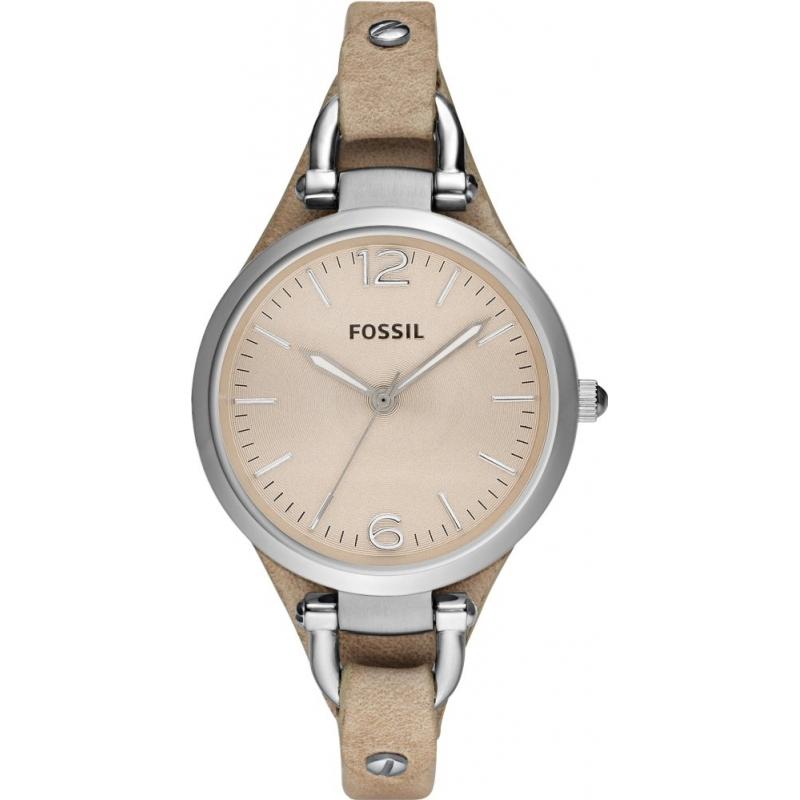 994a05f93 Fossil ES2830 Ladies Georgia Sand Leather Strap Watch