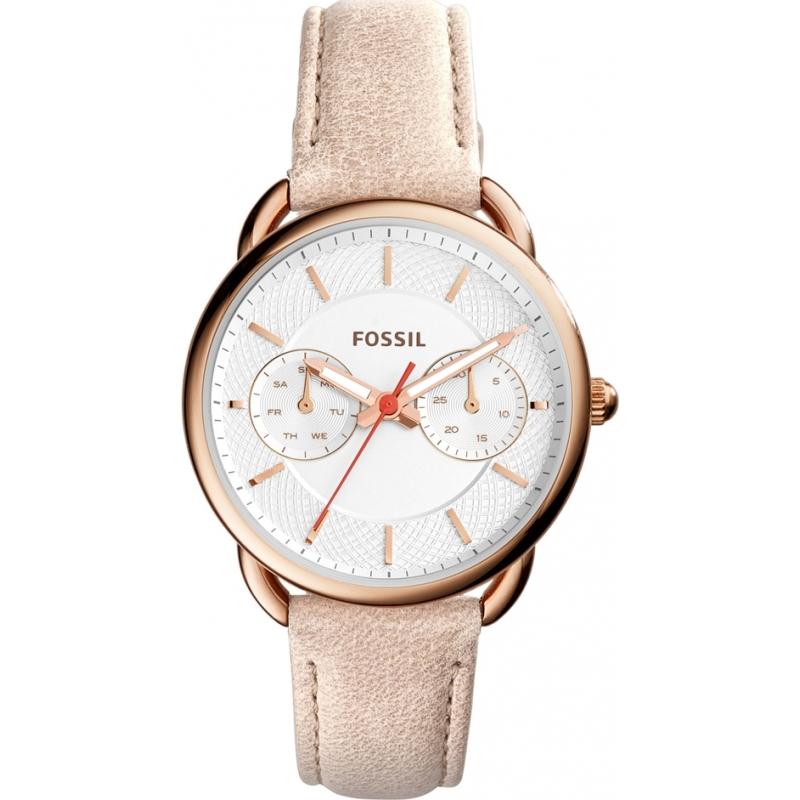 a3c746de2 Fossil ES4007 Ladies Tailor Light Brown Leather Strap Watch