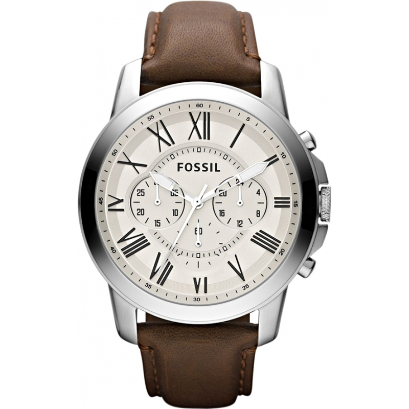 4f047c741cf8 Fossil FS4735 Mens Grant Brown Chronograph Watch