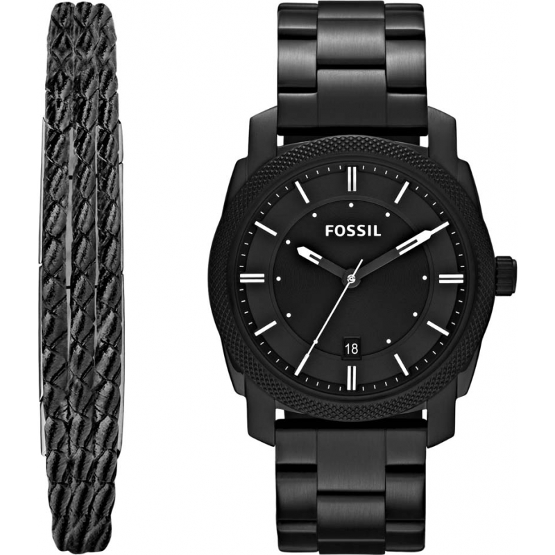 Fs5393set Fossil Machine Watch And Bracelet Gift Set Watches2u