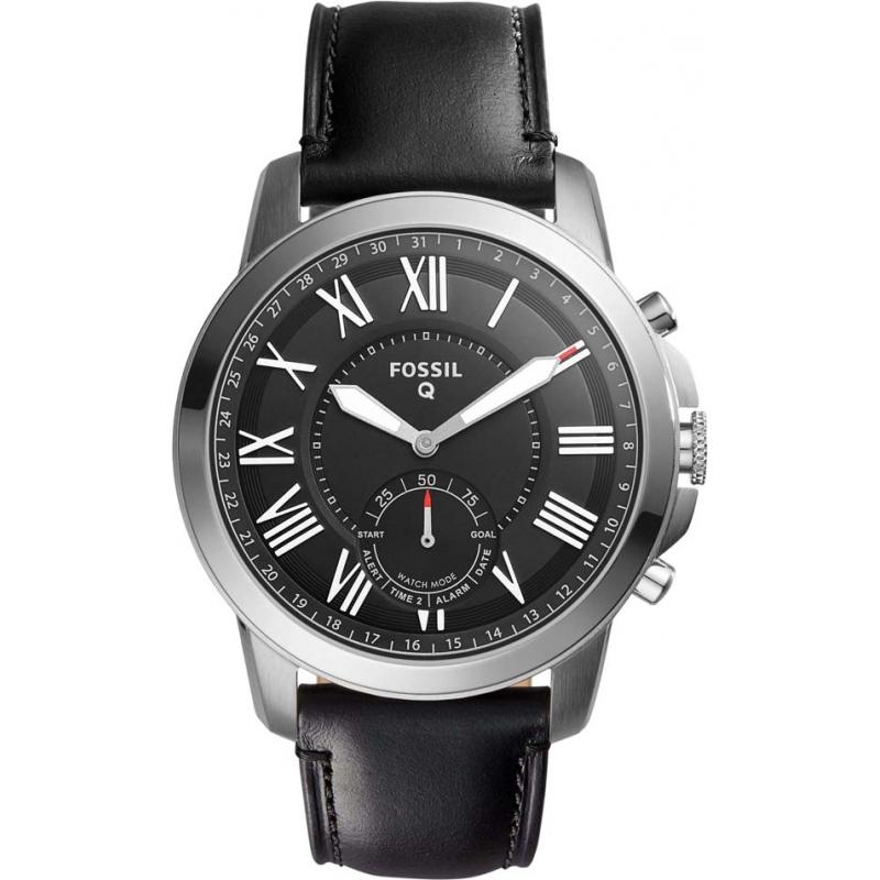 c5e818b8bfc9 Black Leather FTW1157 Fossil Q Smartwatch