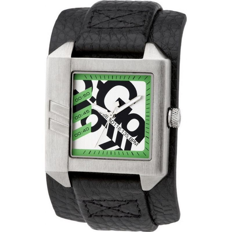 Gio Goi GG1036BS Mens Black Leather Cuff Watch
