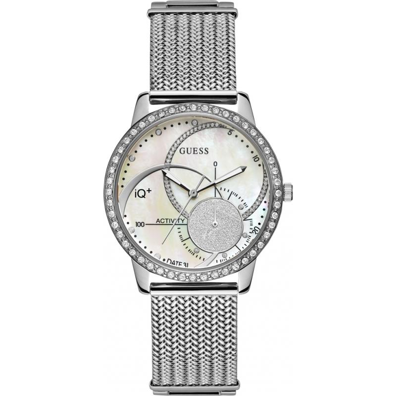 9def2f50b124db Silver Metal C2001L1 Guess Connect IQ Plus Smartwatch | Watches2U