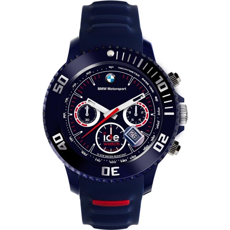 6bbab7ec6711b Ice-Watch 000844 Mens Big BMW Motorsport Exclusive Dark Blue Chronograph  Watch