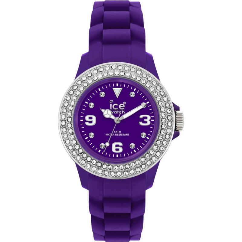 Ice-Watch Watches ST.PSD.SS Ladies Small Sili Stone Purple Dial Purple Strap Watch