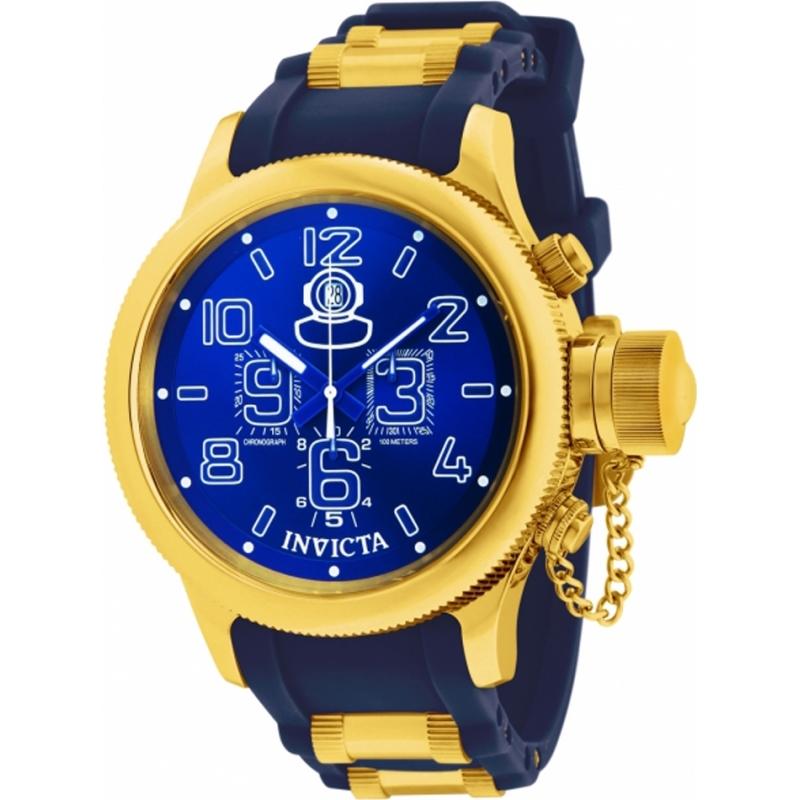 11876 invicta mens russian diver gold and blue