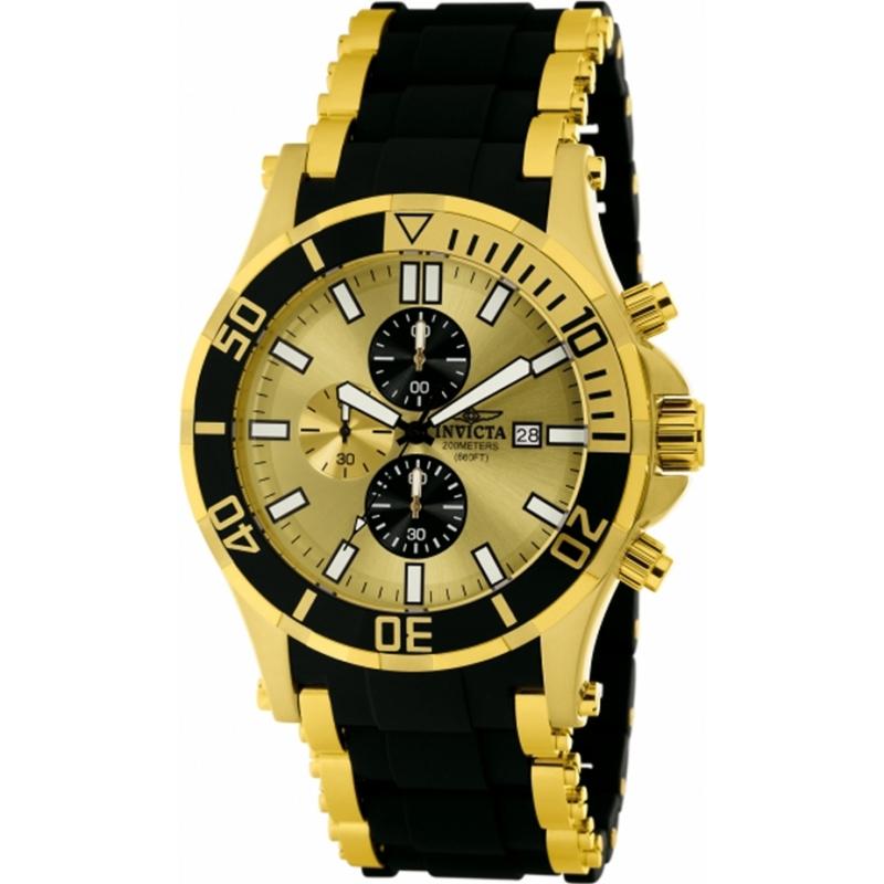 1478 invicta mens sea spider gold and black chronograph