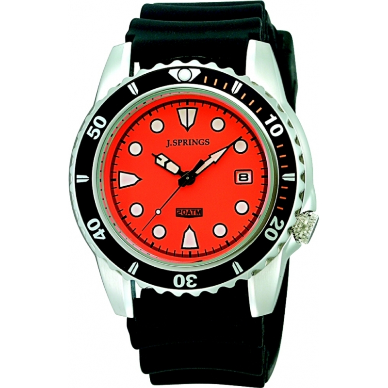 J Springs BBH104 Mens Prestige Sports Orange Black Watch