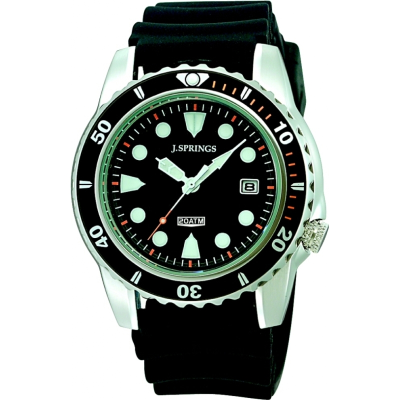 J Springs BBH105 Mens Prestige Sports Black Watch