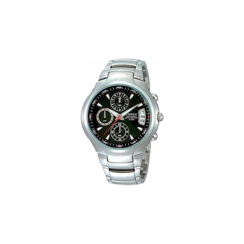 J Springs Watches BFD036 Mens Urban Active Black Steel Watch