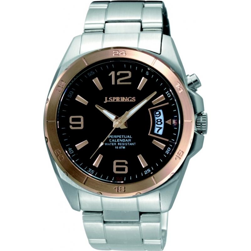 BJC012 J Springs Mens Rose Gold Perpetual Calendar Watch