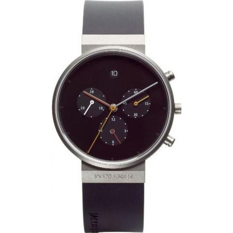 Jacob Jensen 600 Mens Chronograph Black Watch