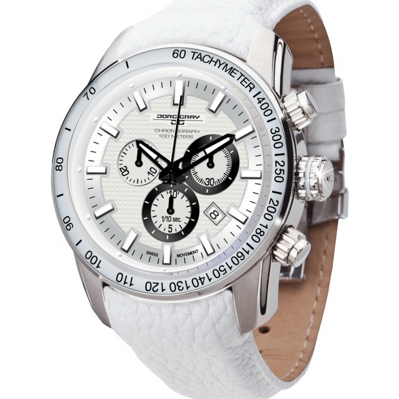 jg3700 33 mens jorg gray watch watches2u jorg gray jg3700 33 mens white chronograph watch