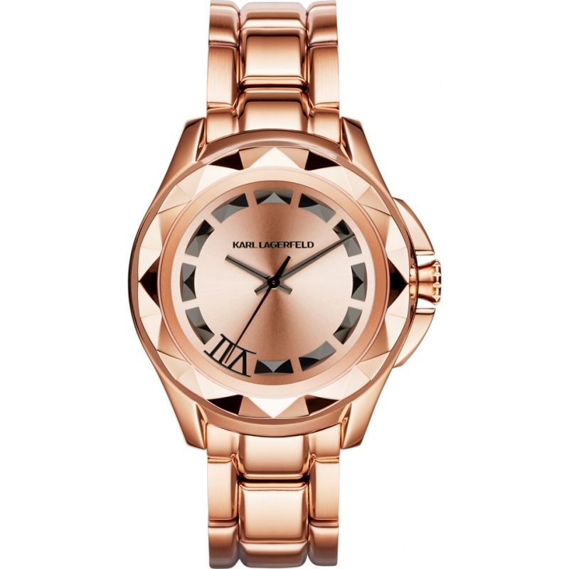 kl1032 mens karl lagerfeld watch watches2u karl lagerfeld kl1032 karl 7 rose gold steel bracelet watch
