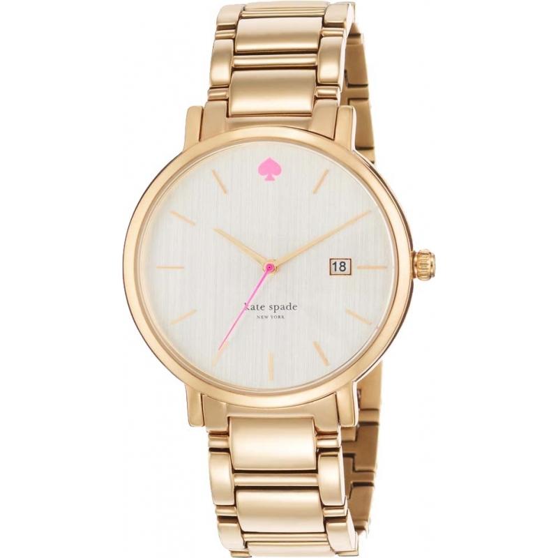 1yru0009 Kate Spade Las Gramercy Grand Gold Plated Bracelet Watch