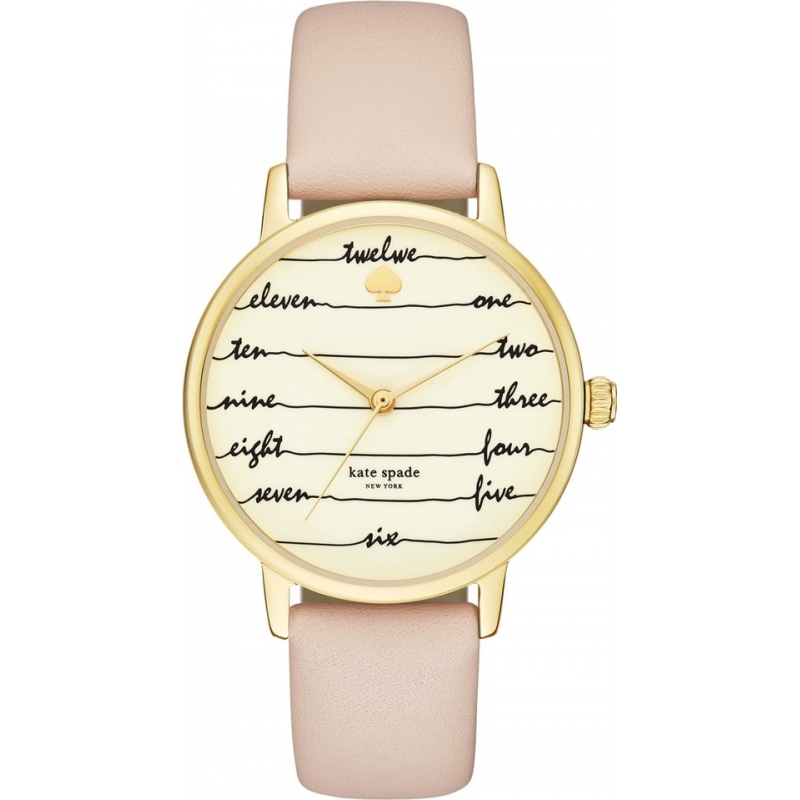 4101032e14f Kate Spade New York KSW1059 Ladies Metro Vachetta Leather Strap Watch