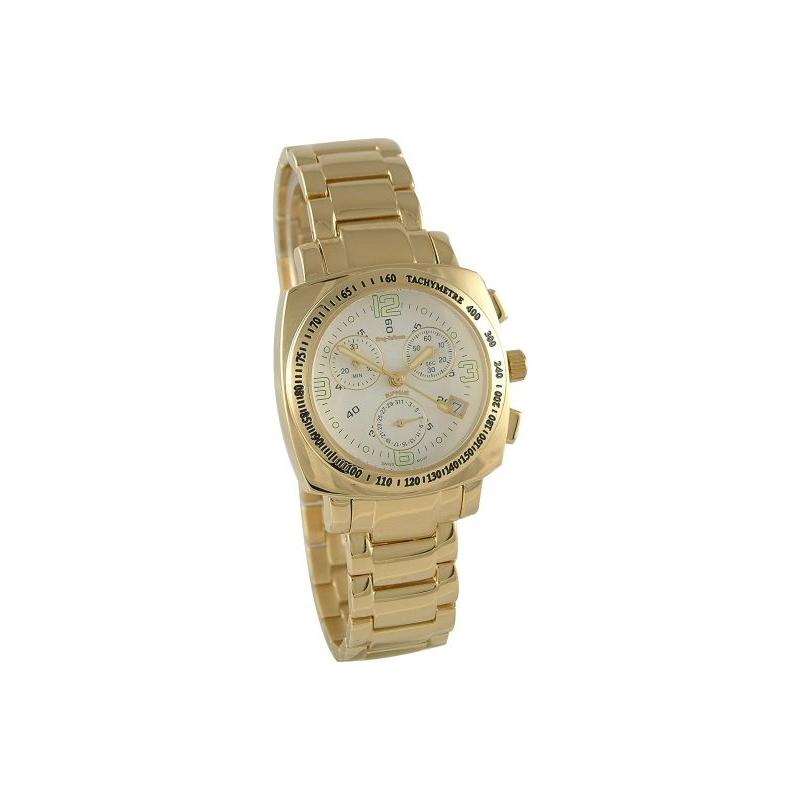 Krug Baümen 150361KM Mens Supreme White Face Gold Watch