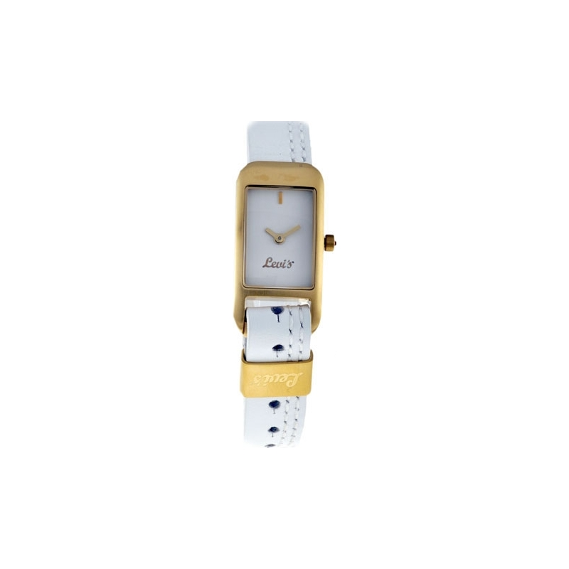 Levis Watches L011GIGWRW Ladies White Leather Strap With White Dial Watch