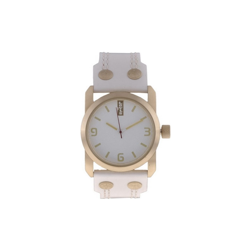 Levis Watches L018GI-2 Ladies White Dial White Vintage Leather Strap Watch
