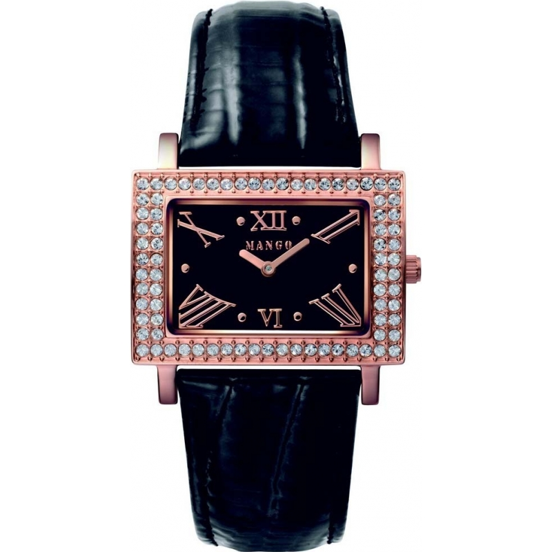 Mango Ladies Samba Black Dial Leather Strap Watch QM281-11-02 aed0c65d7