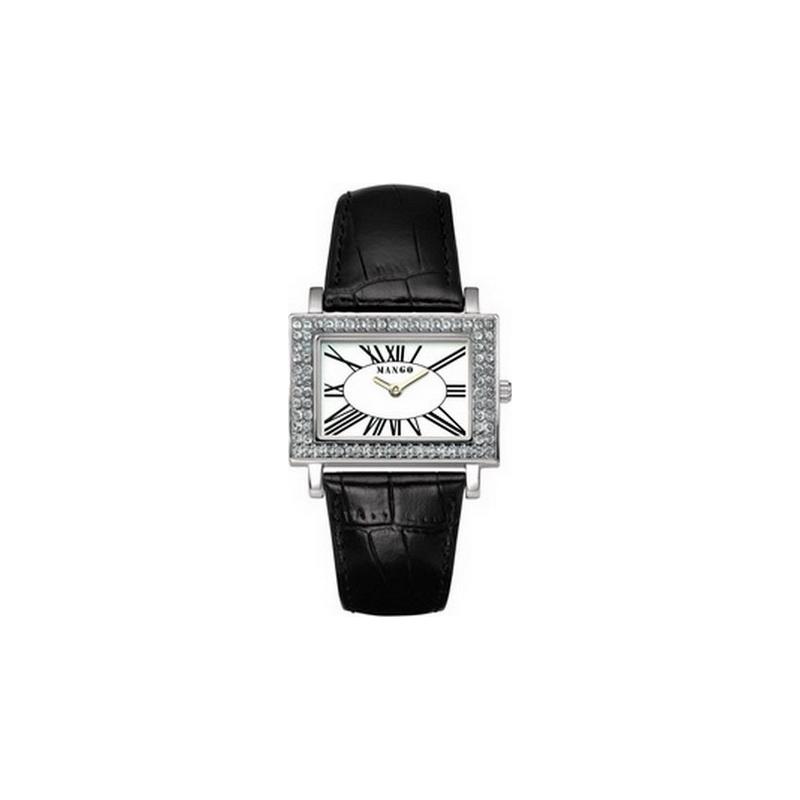 Mango Ladies Samba White Dial Imitation Croco Leather Strap Watch  QM281-12-01 c10d32e8f