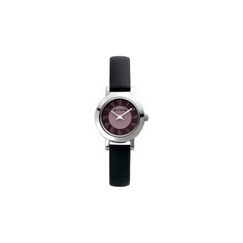 Mango QM711-39-01 Ladies Flamingo Grey Dial With Grey Matt Leather Strap  Watch 536b78234