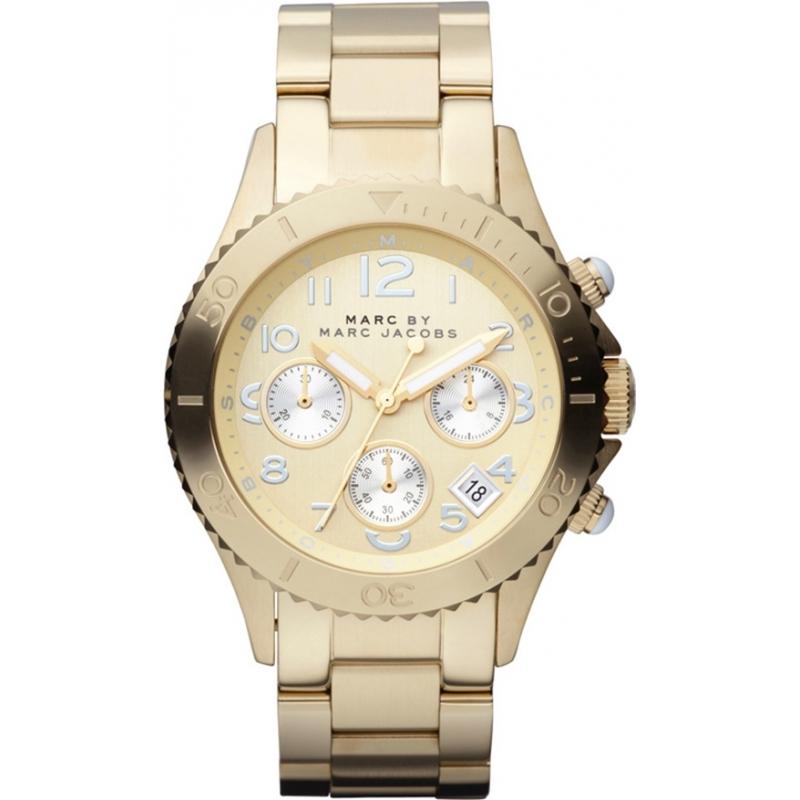 Marc Jacobs MBM3188 Mens Rock Gold Chronograph Watch