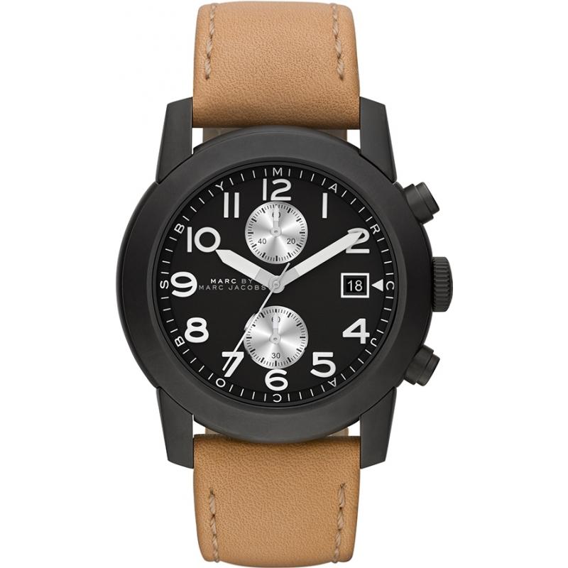 Mbm5053 mens marc jacobs watch watches2u for Black tan watch