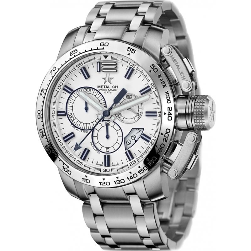 4119 47s metal ch mens chronosport silver steel bracelet watch metal ch 4119 47s mens chronosport silver steel bracelet watch