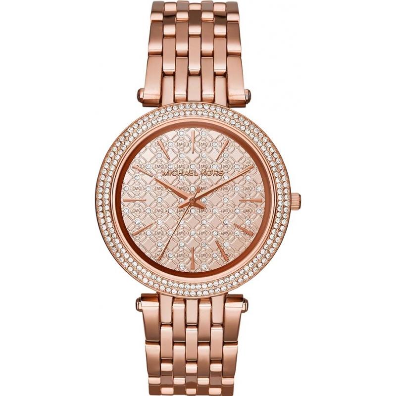 b433ca8436a1 Michael Kors Ladies Darci Rose Gold Plated Watch MK3399