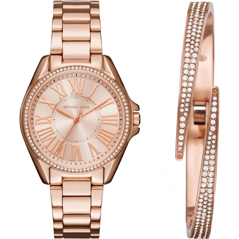 a7b475351fc5 Michael Kors Ladies Kacie Watch and Bracelet Gift Set MK3569