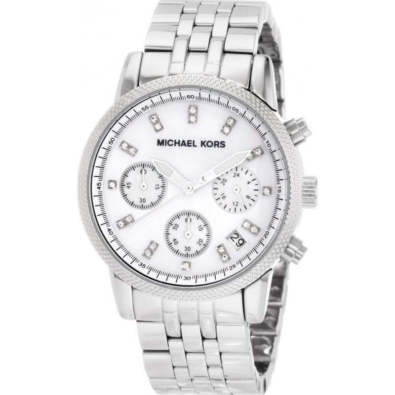 26574faca MK5020 - Michael Kors Ladies Ritz Silver Steel Chronograph Watch