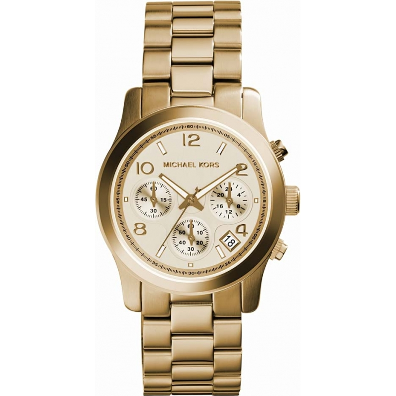 110944a67760 MK5055 - Michael Kors Ladies Runway Gold Chronograph Watch