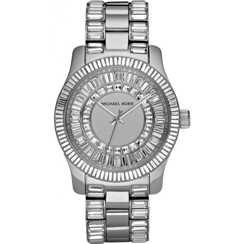 Michael Kors MK5352 Ladies Jet Set Crystals Silver Dial Ss Bracelet Watch