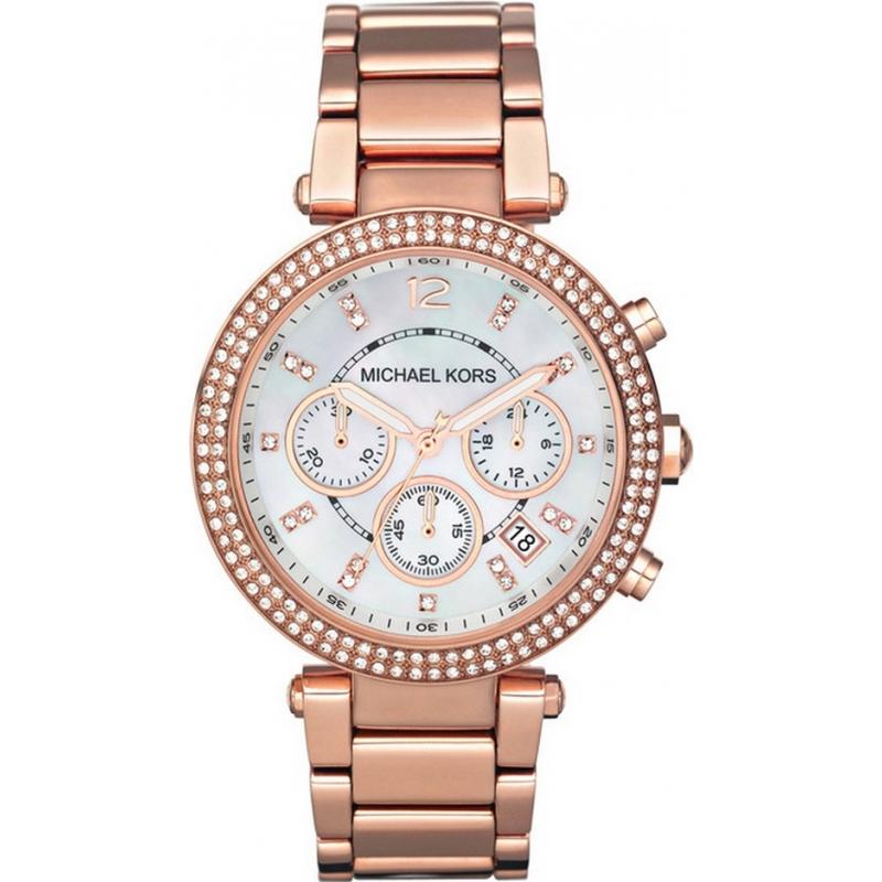 Michael Kors MK5491 Ladies Parker Rose Gold Chronograph Watch