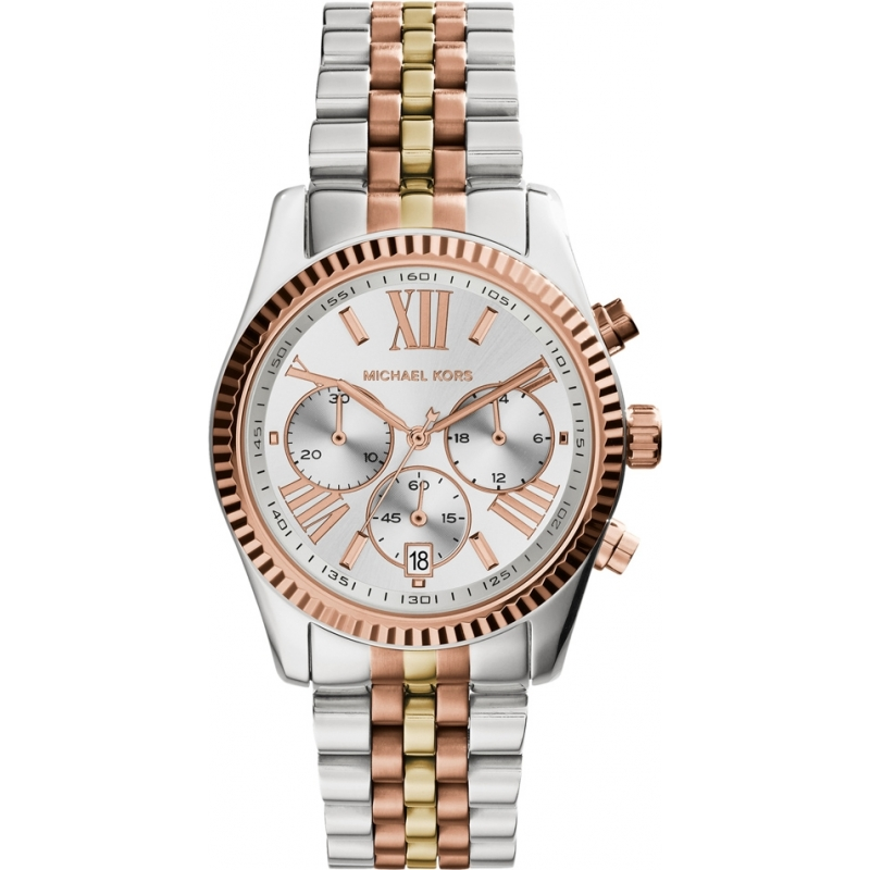 bade59c8d98e Michael Kors Ladies Lexington Two Tone Steel Chronograph Watch MK5735