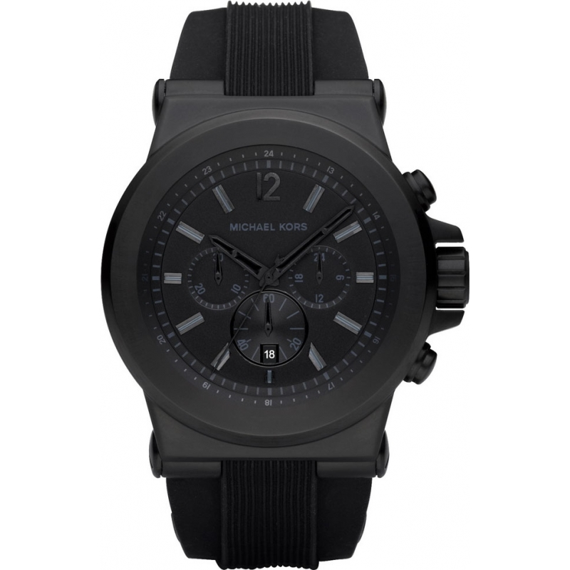 mk8152 michael kors mens jet set all black chronograph watch michael kors mk8152 mens jet set all black chronograph watch