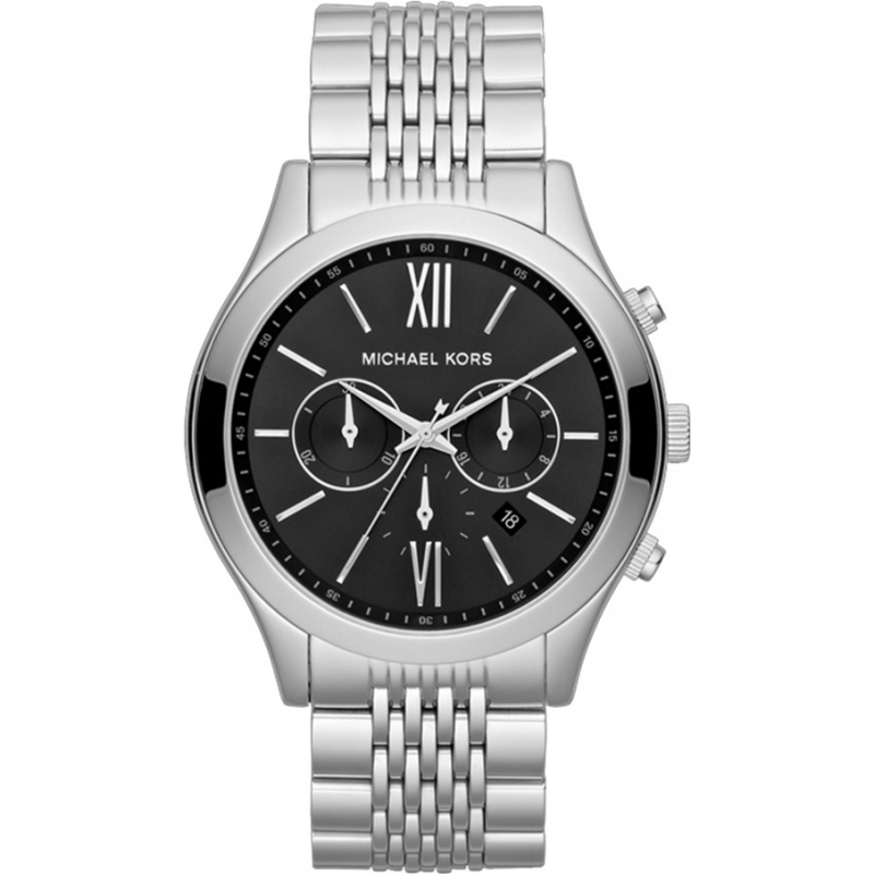 Michael Kors MK8305 Mens Brookton Silver Chronograph Watch