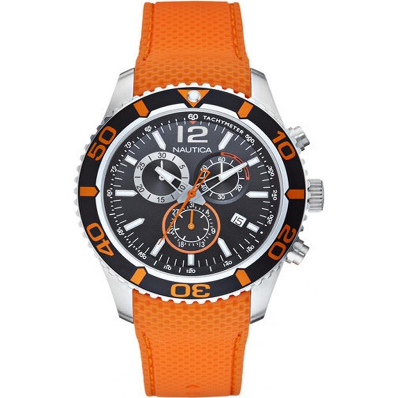 a15101g mens nautica watch watches2u nautica a15101g mens orange nst 09 chronograph watch