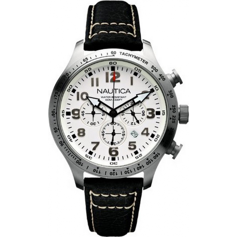 Nautica A15539G Mens BFD 101 White Black Watch