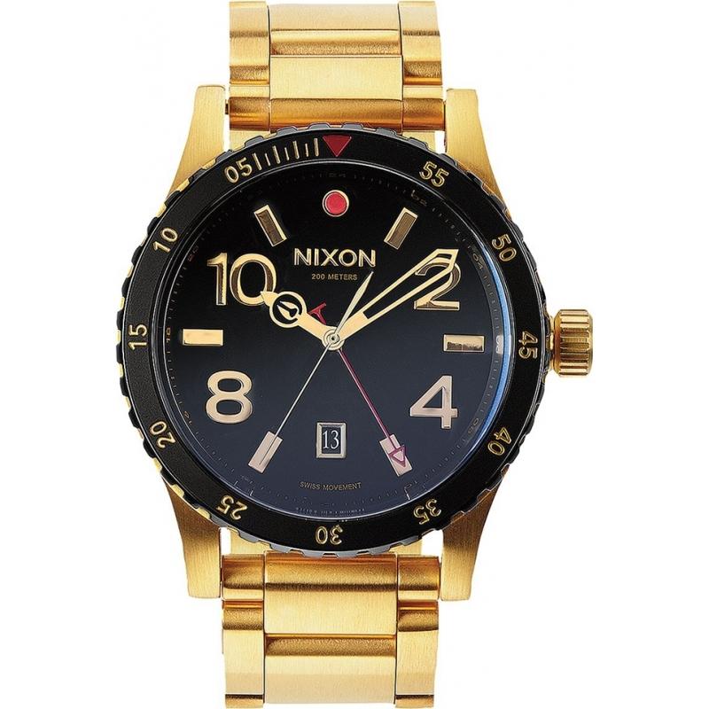 a277 513 nixon mens diplomat ss gold black