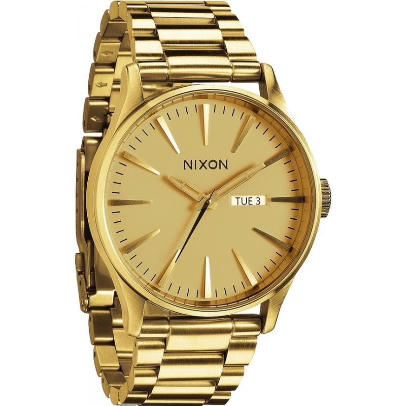 a356 502 nixon mens sentry ss all gold