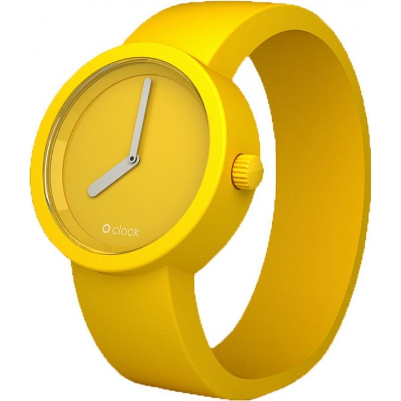 O clock OCT21 Tone On Tone Yellow Watch