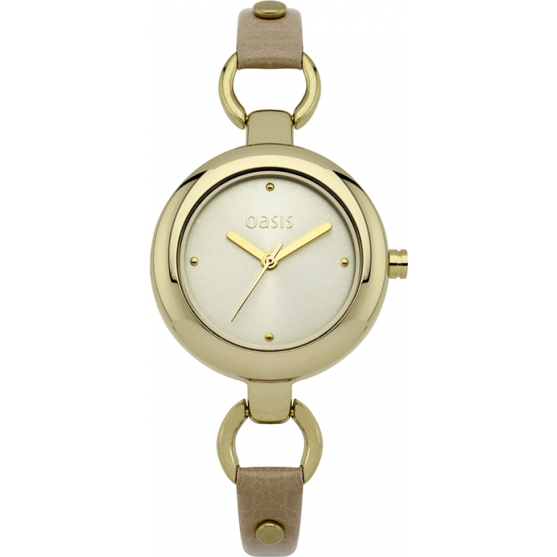 Oasis B1097 Ladies Tan Leather Strap Watch
