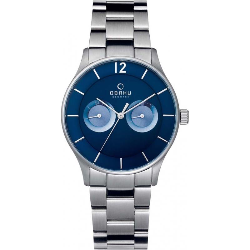 v192gmclsc mens obaku watch watches2u obaku v192gmclsc mens silver steel bracelet watch