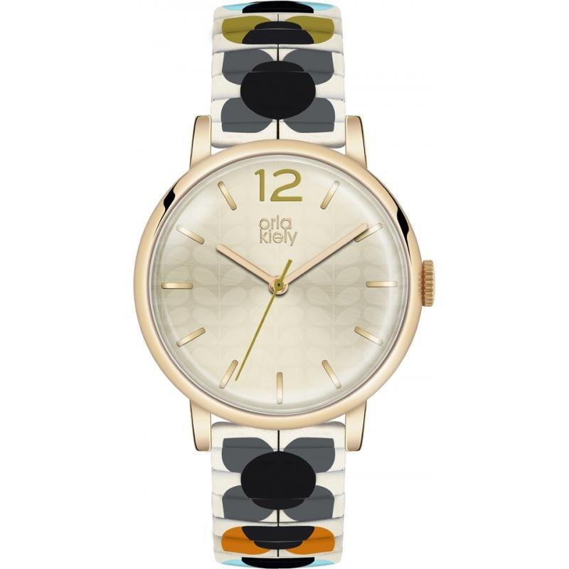 Orla Kiely OK4058 Ladies pop multicolour expander armband horloge