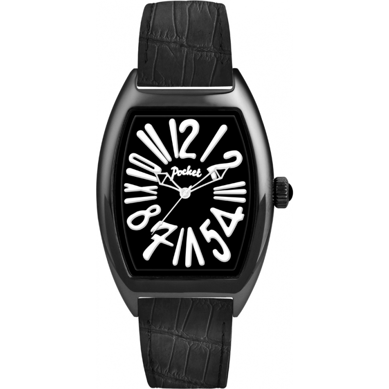pk3012 pocket mens tonneau classique grande all black watch pocket pk3012 mens tonneau classique grande all black watch