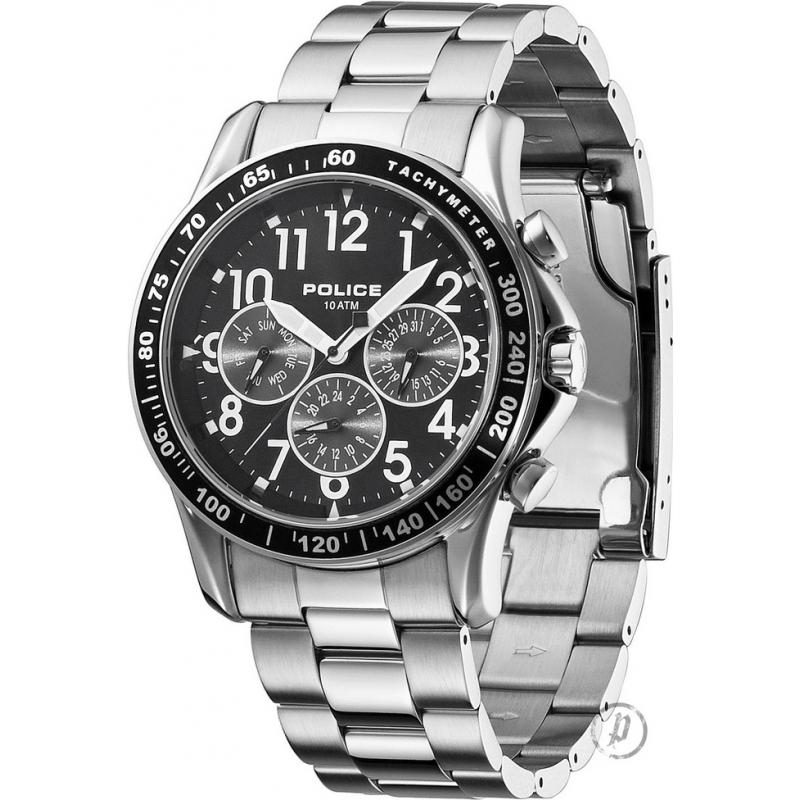 Police Watches 12745JS-02M Mens Fastlane-X Black Silver Watch