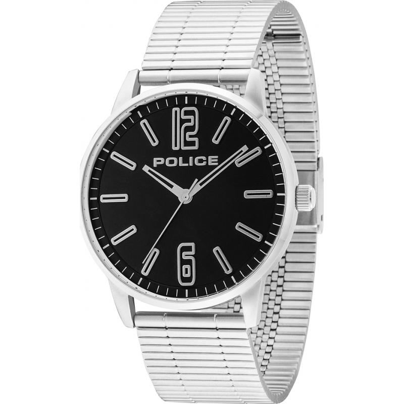 Police 14765JS-02M Mens Esquire silver stål armband klocka